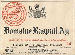 Wine Label Poster Dom Raspail-Ay - Welborne Fine Art