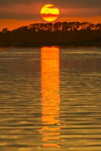 Sunset Reflection over Water