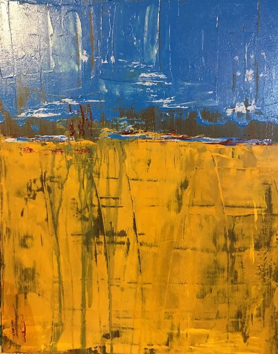 Mellow yellow - Serendipities on canvas
