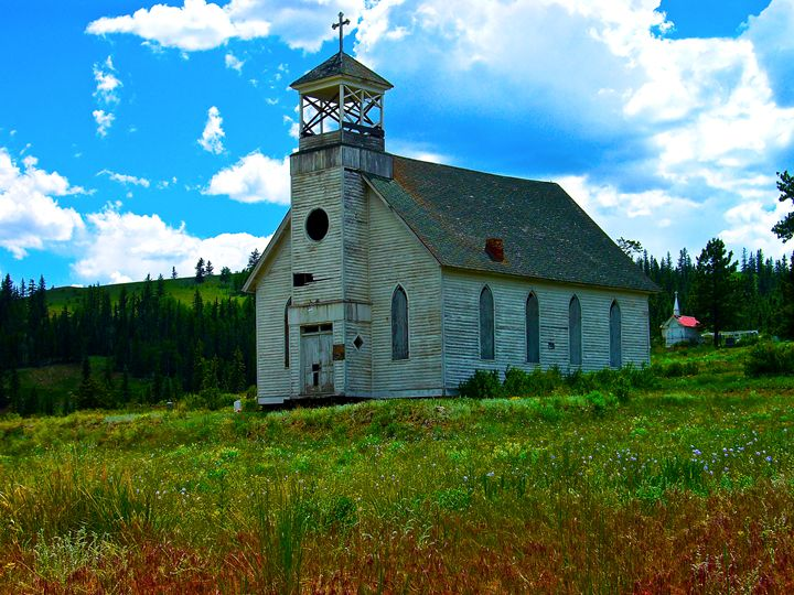 Old Church in the Colorado Mountains - Aspen Willow Fine Art Photography Gallery