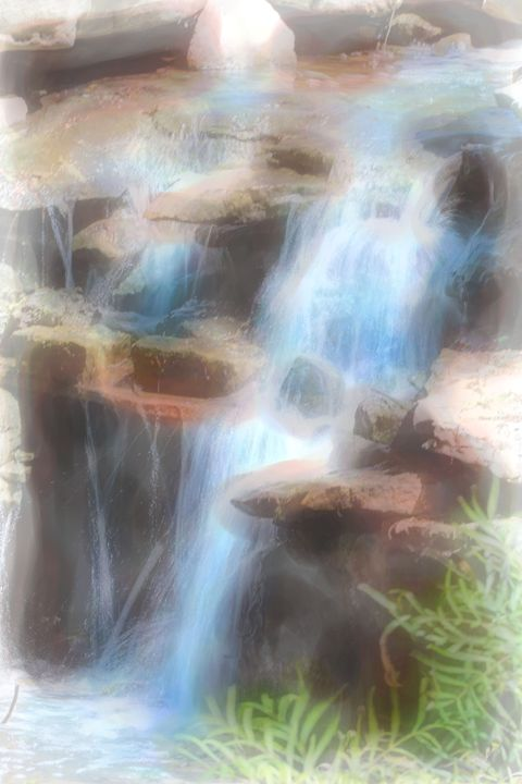 Watercolor Waterfall - Aspen Willow Fine Art Photography Gallery