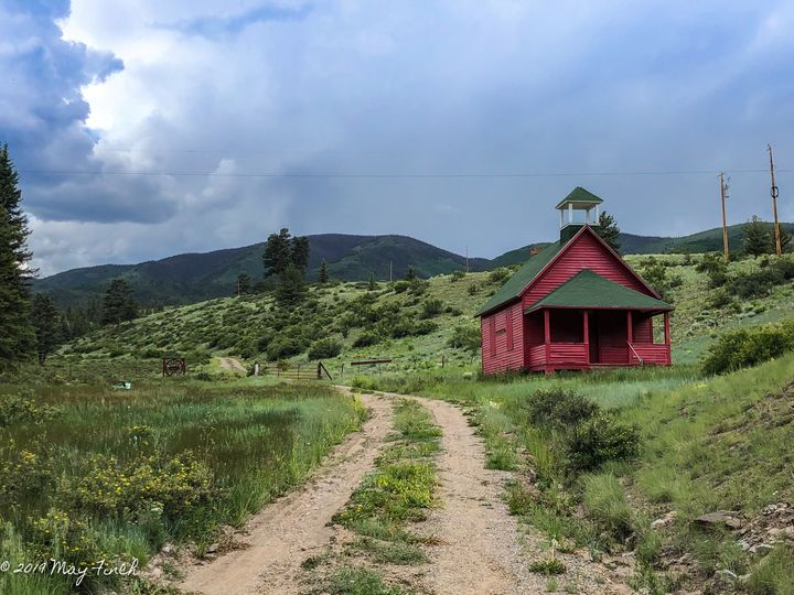 Red School House - Aspen Willow Fine Art Photography Gallery