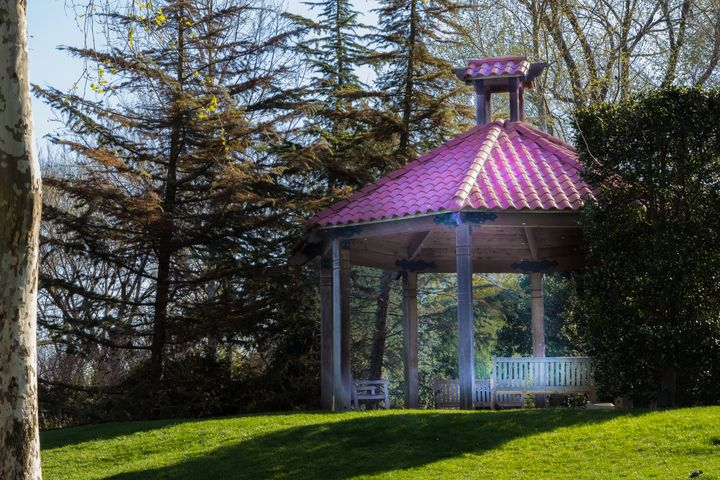 Pavilion in the Garden - Aspen Willow Fine Art Photography Gallery