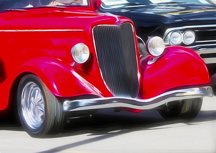Antique Red Car - Aspen Willow Fine Art Photography Gallery
