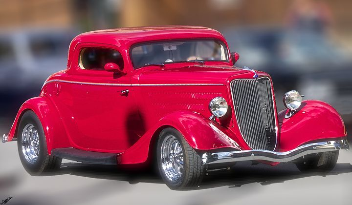 Cherry Apple Red Vintage Hotrod - Aspen Willow Fine Art Photography Gallery