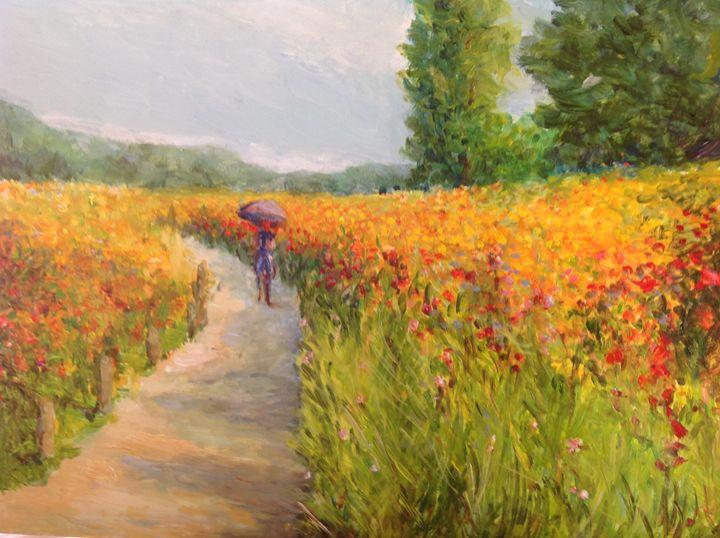 "Walk in HamaRikyu Gardens"" - Bracken Gilday Art"