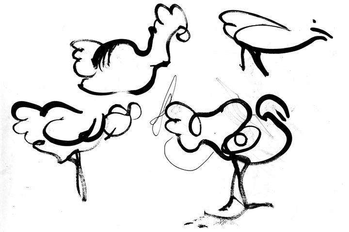 drawing of chickens - https://www.artpal.com/monkeey/