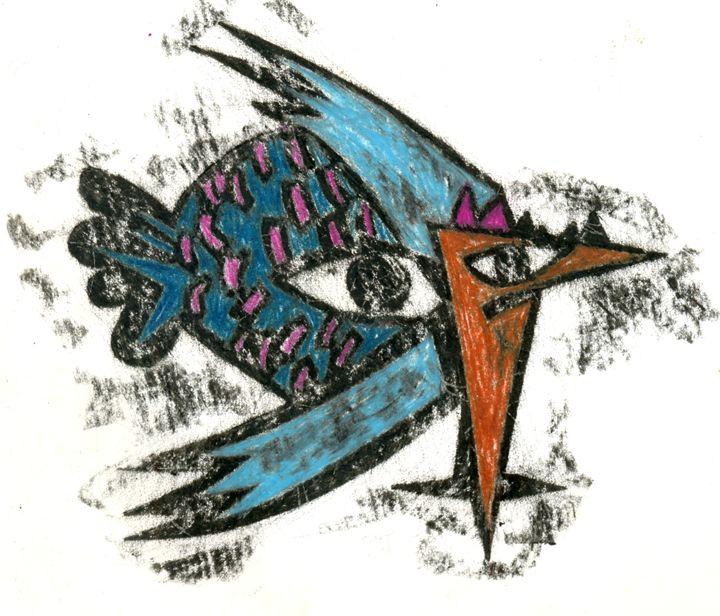 bird and fish - https://www.artpal.com/monkeey/