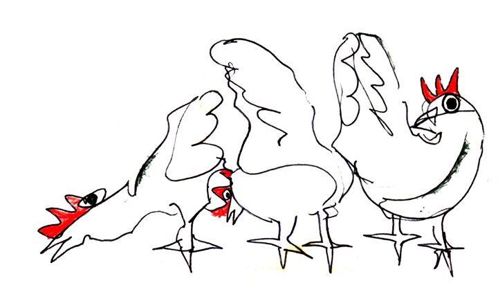 three cocks - https://www.artpal.com/monkeey/