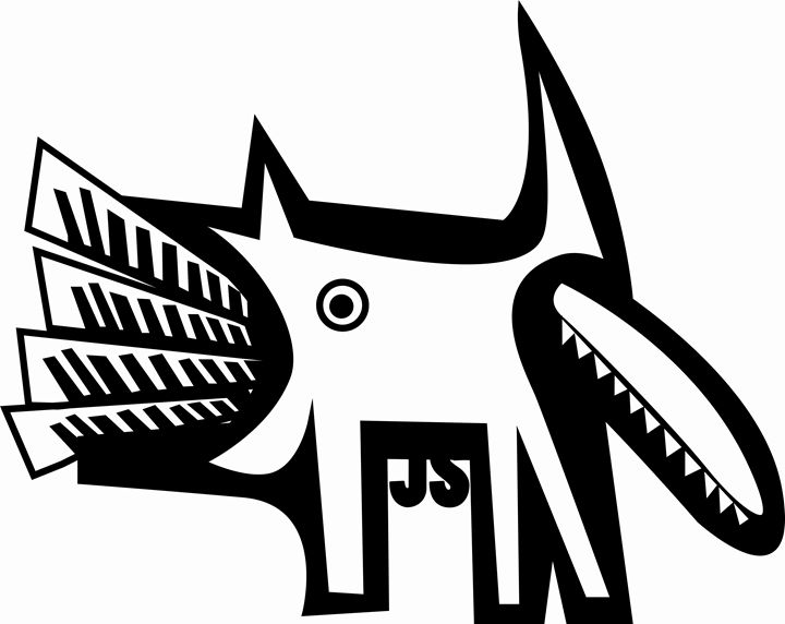 dog eating - https://www.artpal.com/monkeey/