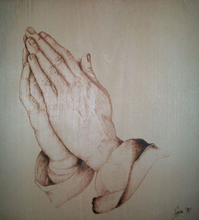 Dürer's Praying Hands - Pyroartos