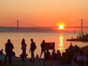 Sun on the bridge