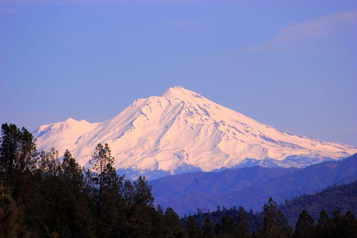 Snowy Mount Shasta - Flashbulb Foto