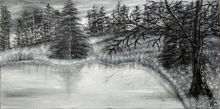 Trees by the pond - Christianson Art