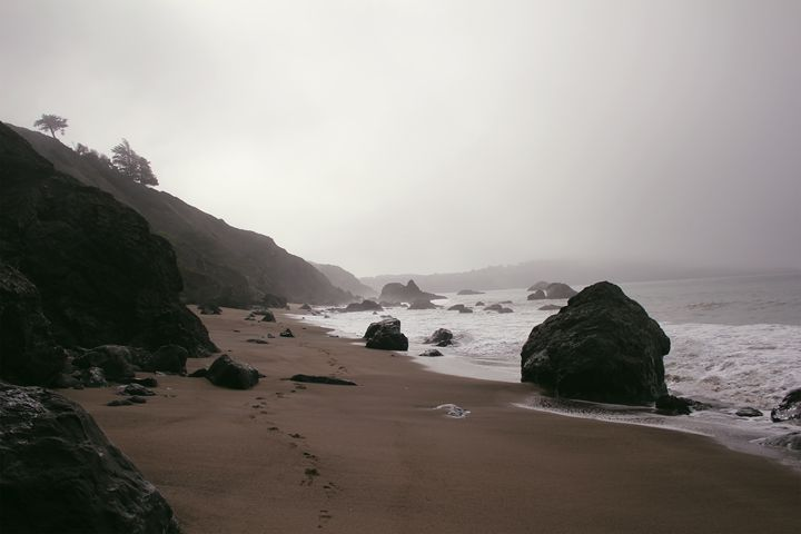 Foggy San Francisco Baker Beach - Samantha Marie