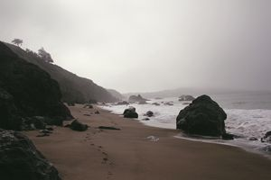 Foggy San Francisco Baker Beach