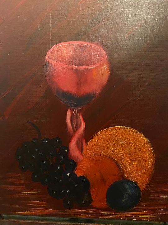Goblet with fruits - Art By Charlie