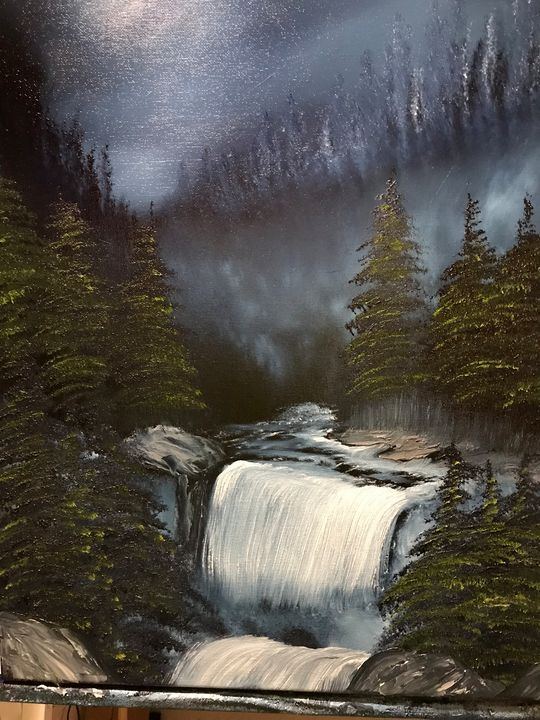 Mountain Falls - Art By Charlie