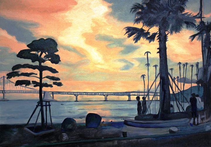 Gwangalli Beach - Lenka Graner's Paintings