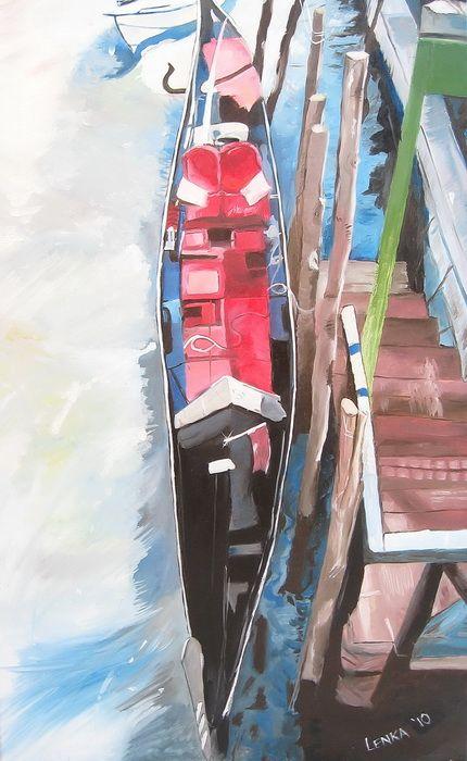 Red Gondola No.1 - Lenka Graner's Paintings