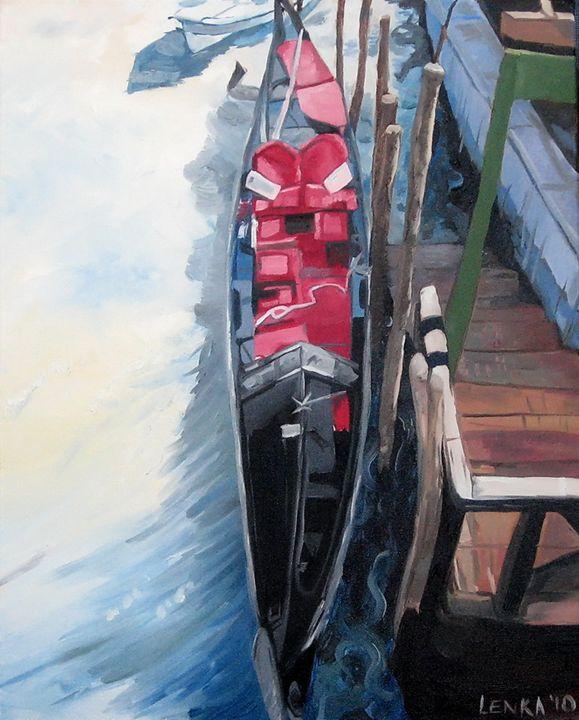 Small Red Gondola - Lenka Graner's Paintings