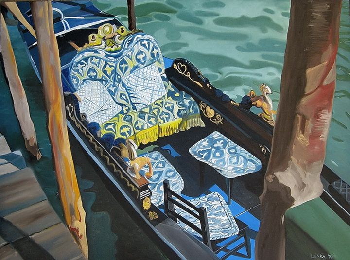 Blue Gondola - Lenka Graner's Paintings