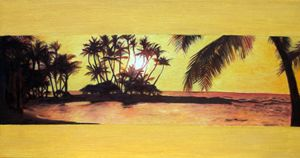 Yellow Hawaiian Sunset