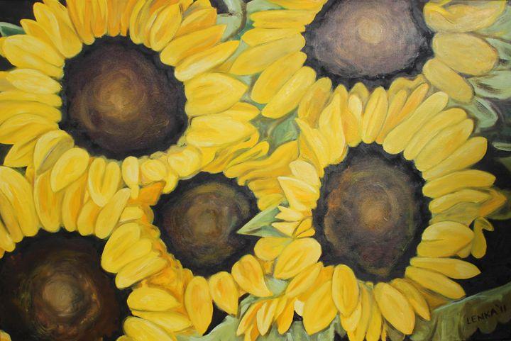 Sunflowers - Lenka Graner's Paintings