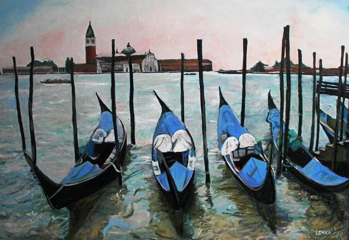 Blue Venice - Lenka Graner's Paintings