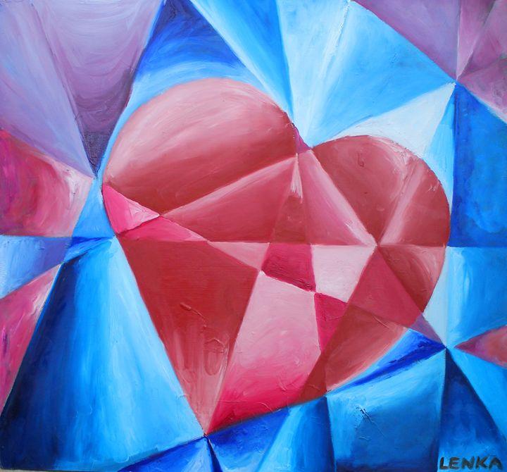 Jewel Heart - Lenka Graner's Paintings