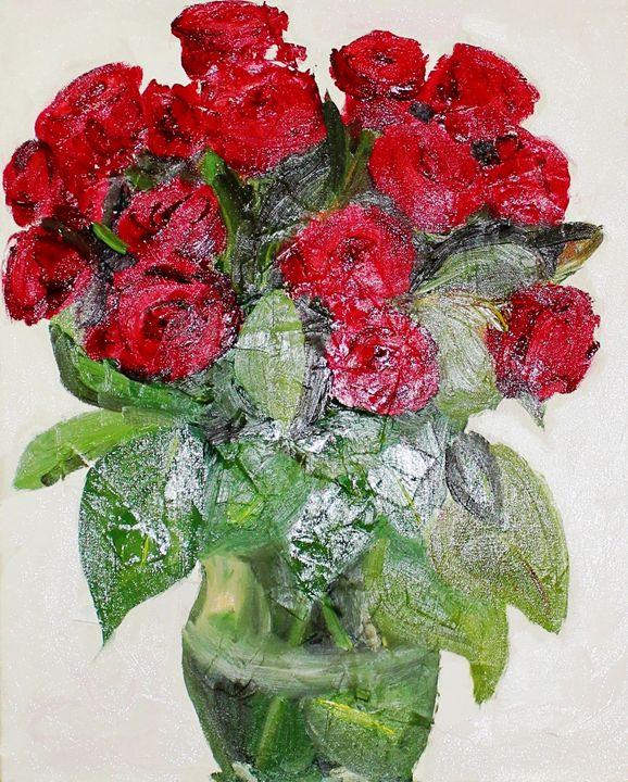 Red Roses - Lenka Graner's Paintings