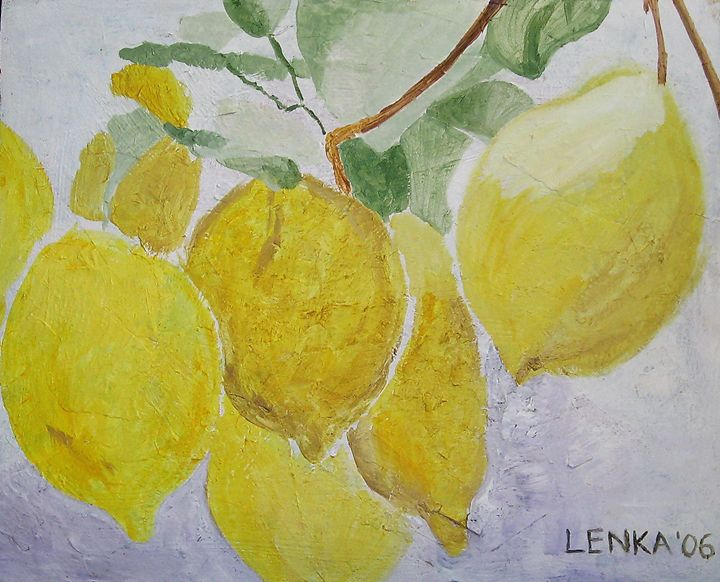Lemons - Lenka Graner's Paintings