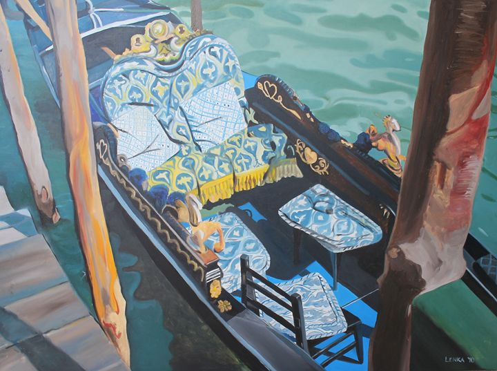 Blue Gondola (April) - Lenka Graner's Paintings