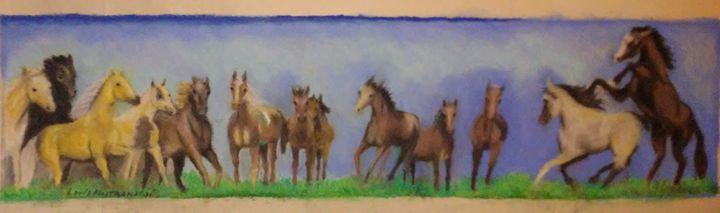 Horses in pastels - Louis Mastronardi
