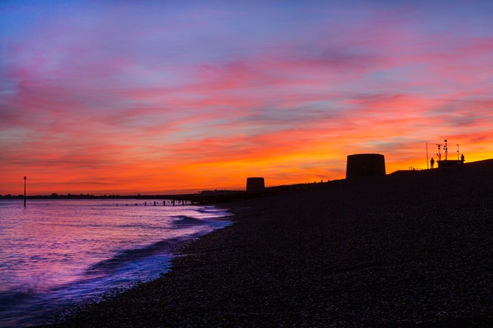 Martello Sunset - Dave Hare Photography