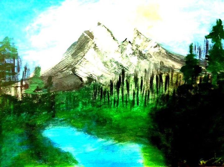 Landscape of Icy Mountains - Communicating Colors