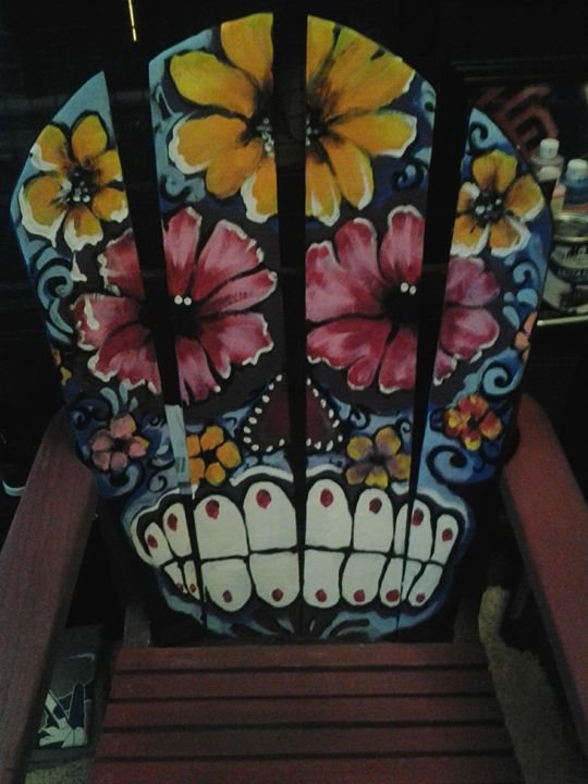 day of the dead wood chair - Bellavida