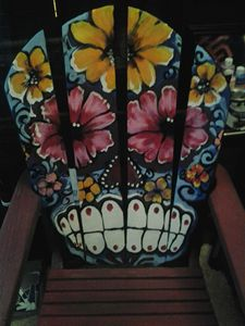 day of the dead wood chair