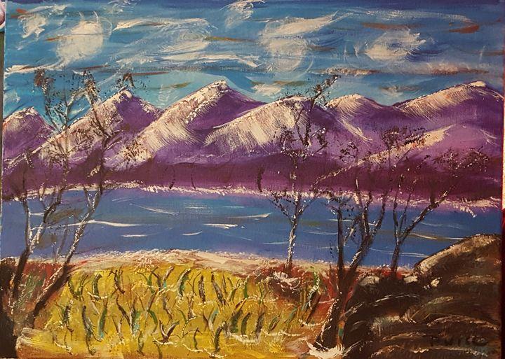 Purple Mountain Sky - Wise art