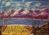 Original Purple Mountain painting
