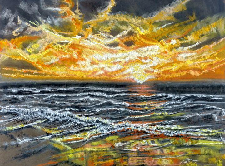 Golden Sunset Sea - Trish Bonnette