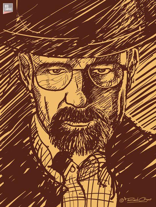 Heisenberg- breaking bad - Red Canvas