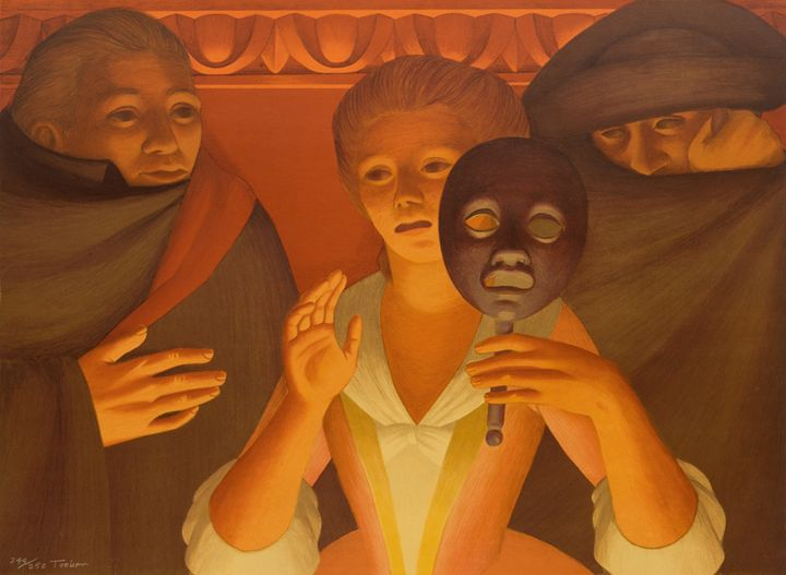 GEORGE TOOKER  Un Ballo in Maschera. - Thesaurus Decorative Arts Antiques