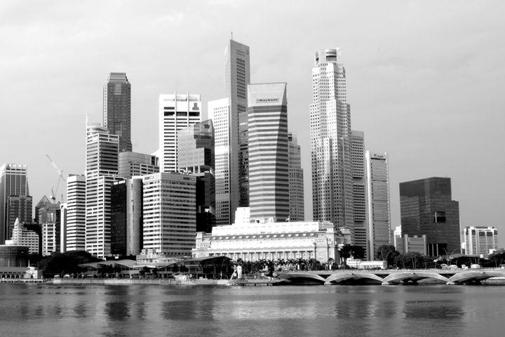 Singapore Skyline - KCBlack&White