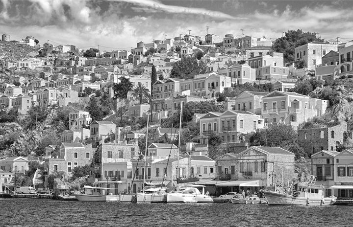 Greece seaside village - KCBlack&White