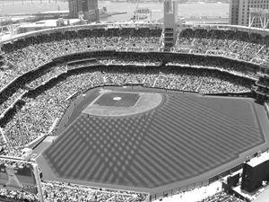 Baseball Stadium - KCBlack&White