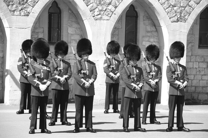 British Changing the Guard - KCBlack&White