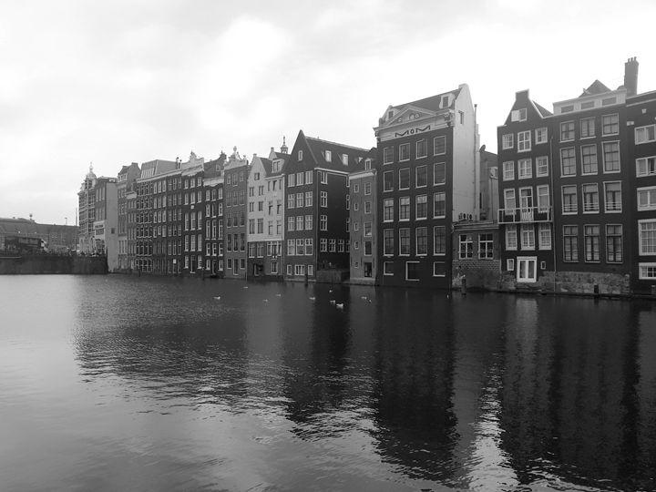 Amsterdam waterfront photo - KCBlack&White