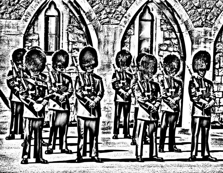 Changing the Guard sketch - KCBlack&White