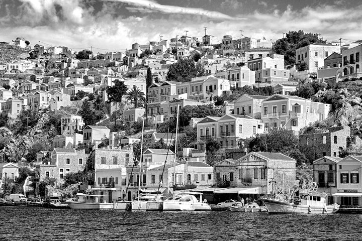 Greek seaside village - KCBlack&White